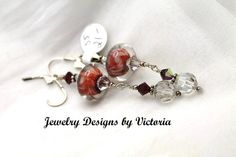 Sterling Silver  Lampwork EarringsOOAK by fa2756 on Etsy, $21.00