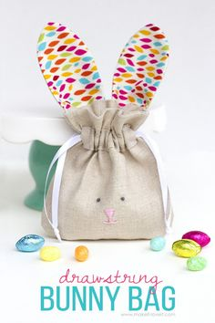 38 super cute easter basket ideas tote bag bunny and easter 25 things to sew for easter negle Image collections