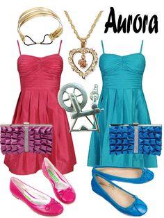 Disney Fashion: Aurora (Pink and Blue Dress) by EvilMay.deviantart.com on @deviantART