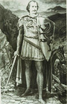 Llywelyn ap Gruffydd - the last native Prince of Wales, in 1282.
