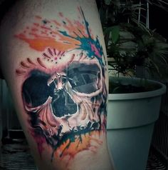 Skull Tattoos 42 - 80 Frightening and Meaningful Skull Tattoos  <3 <3