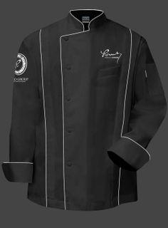 Romulo Chef Jacket- Black