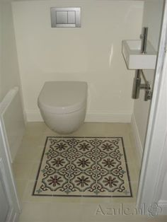 Cementtiles Toilet - gris 13 - Egal Blanc S834 - Project van Designtegels.nl