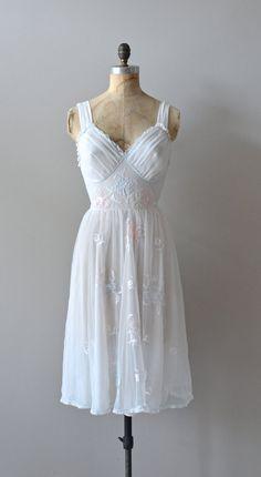 white 1950s slip