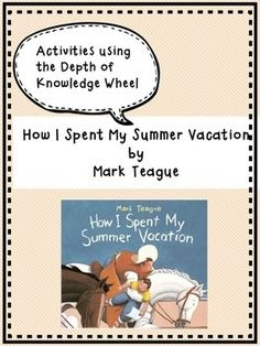 summer vacations  education world and world on pinteresthow i spent my summer vacation   first day of school activity