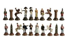 """New chessmen at The Game Supply - 3"""" Battle Of Waterloo Chessmen Set, $89.95, FREE Ground Shipping on ALL board games and accessories + if you spend $99 & up, you get an additional 10% off!(http://www.thegamesupply.com/3-battle-of-waterloo-chessmen-set/) #waterloothemedchessmen"""