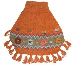 Alqo Wasi Alpaca Dog Sweater Poncho in Royal Dog available at www.ZoePetSupply.com