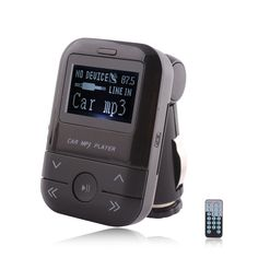LCD Display Car MP3 Player FM Transmitter With Remote Control Support SD MMC USB Disk