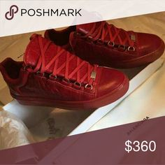 b33c6cd3d2a7a2 Balenciaga Red Low Text 404 602 2558 brand new 100% Authentic Balenciaga  Shoes Balenciaga Shoes