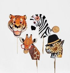 Safari Cupcake Toppers Adult Safari Party Toppers Tiger Zebra Giraffe Leopard Toppers Custom Hand Made Jungle Birthday Animal Safari Party by PartySurprise on Etsy Adult Safari Party, Zoo Animal Party, Jungle Party, Animal Birthday, Zoo Birthday, Jungle Safari, Birthday Ideas, Birthday Parties, Happy Birthday