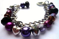Beaded Bracelet chain heart