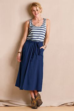 Women's Patch Pocket Skirt from Lands' End