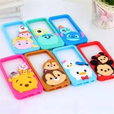 Cute 3D Cartoon Monsters Tsum Daisy Mike Rubber Soft Silicone Phone Bumper Case For iPhone 5 5s 6 4.7 6plus 5.5