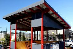 Modern Timber GazeboColorbond skillion roof