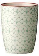 Bloomingville - Emma krus fra HjemmeLiv.dk God størrelse til en kop kaffe eller te. Kruset har det fineste grønne blomster mønster med rød kant. Mix og match med de andre dele i Emma stellet og lav dit helt eget personlige stel.