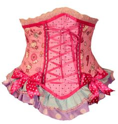 Hello Kitty Gumball waist cincher corset by kawaiiparlor on Etsy, via Etsy.