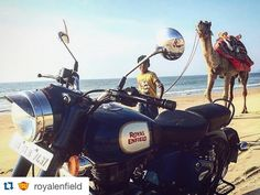 The very definition of #adventure #vehicle #Repost @royalenfield with @repostapp.  Caravans usually comprise all kinds of vehicles and this is no different PC: @karayan4ik #Beach #Sand #RoyalEnfield #Motorcycles #Camel #Classic500 #royalenfieldaustralia