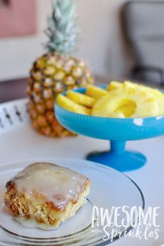 Gooey Pineapple Crush Cake | Get the recipe from Awesome with Sprinkles