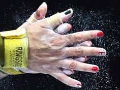 Olympic Nail Art: Mexico Olympic Nail Art We Love! Nail Art, manicure, nail art DIY