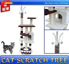 "Frugah New Kitty Cat Scratcher 68"" Height Cat Tree Post Condo Tower Toy Pet Furniture by HOMCOM, http://www.amazon.com/dp/B006PASNBW/ref=cm_sw_r_pi_dp_EtG1qb1W3R4VV"