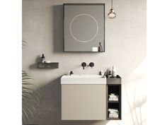 Wall-mounted vanity unit COMPACT LIVING - SET 2 By Rexa Design Double Sided Mirror, Washbasin Design, Spa Interior, Wall Mounted Vanity, The Doors, Compact Living, Vanity Units, Furniture For Small Spaces, Bathroom Furniture