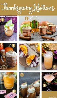 These Thanksgiving Libations are all delicious and simply perfect for your Thanksgiving celebration!