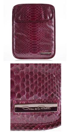 Oscar de la Renta Pearlized Rose Python iPad Clutch