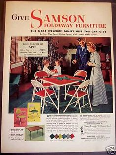 Samson Foldaway Furniture Cmas (1952) Let's play bridge