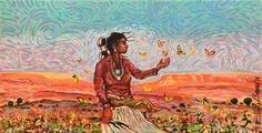 ButterflyGirl. by Shonto Begay kp