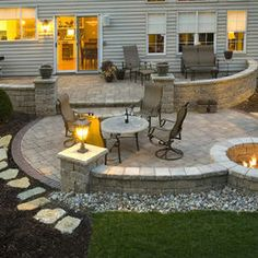 Stone Patio Design Ideas 26 awesome stone patio designs for your home title Phillycom Exterior Firepit Seating Wall Pavers Patio Design Ideas Pictures Remodel