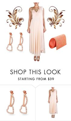 """Flowy Peach Anarkali 
