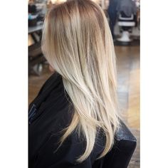 Beach blonde, one of my favorites. A root, foils, AND balayage.