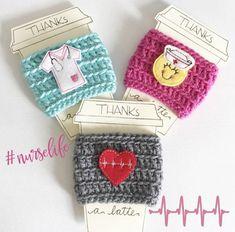 crochet coffee sleeve cup cozy, nurse life coffee cozy, nurses week, nurse thank you, registered nurse gift, doctor gift, student nurse