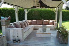 Garden, sofa. Bouwtekening Steigerhout | Zelf je meubels maken!