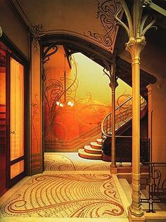the most beautiful entryway in all creation. Thank you Alphonse Mucha for being a genius