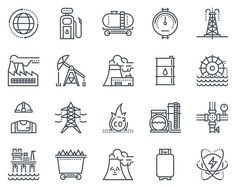 Energy industry icon set Graphics Energy industry icon set suitable for info graphics, websites and print media. Black and white flat by howcolour Web Design, Vector Design, Icon Design, Business Illustration, Pencil Illustration, Business Brochure, Business Card Logo, Black And White Flats, Wordpress