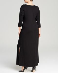 Karen Kane Plus Size Fashion Black Scoop Neck Maxi Dress | Bloomingdale's #Karen_Kane #Black #Maxi #Dress #Plus #Size #Fashion #Plus_Size_Fashion #Bloomingdales