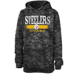 Pittsburgh Steelers Girls Youth Shawl Neck Pullover Hoodie - Black Steelers  T Shirts 64f987a0b