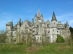 Back view of Castle Noisy. Listed on website as one of the 10 Most Creepiest Mansions.