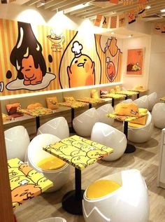 (8) Gudetama Cafe in HK | Kawaii | Pinterest