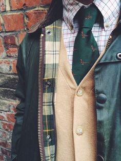 I feel like I would like this jacket. I like almost anything with a festive lining. I like the formal/preppy style underneath with a more casual jacket.