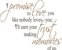 Promise to love you. Credit: Trading Phrases
