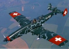 Cool looking aircraft from Switzerland Ww2 Aircraft, Military Aircraft, Trains, Swiss Air, Air Space, Nose Art, Model Airplanes, Switzerland, Fighter Jets