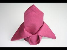 Servietten falten: Lilie napkin folding lily