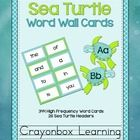 A wonderful addition to your sea life classroom decor! Featuring 300 High Frequency Words (Fry), and 44 requested words including number words (zero - twenty), color words, and days of the week. Also featuring 26 alphabet sea turtle headers (A-Z).