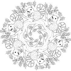 hyde park critters a free printable mandala coloring page from mondaymandalacom