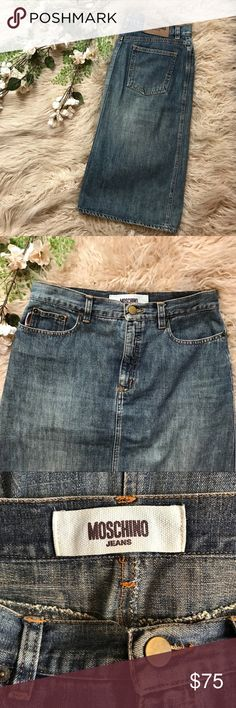 bf0b11550 Shop Women's Moschino Blue size 8 Skirts at a discounted price at Poshmark.  Description: Moschino Jeans Women's Denim Skirt Size Size US 8 Pencil style  ...