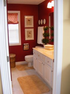 Cottage Red bedroom, This was our master bed room in our former house., Bedrooms Design