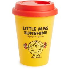 Wild & Wolf 'Little Miss Sunshine' Travel Mug (€6,44) ❤ liked on Polyvore featuring home, kitchen & dining, drinkware, yellow and wild & wolf