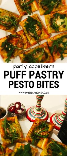 Christmas party food recipes festive italian appetisers heathy puff pastry pesto bites festive appetiser recipes christmas party food ideas forumfinder Choice Image